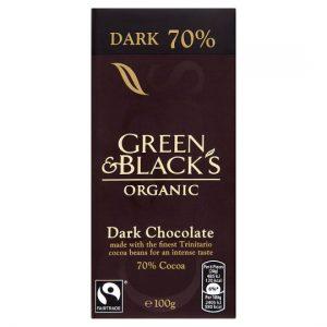 Green & Black's Organic 70% Dark Chocolate Bar