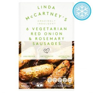 Linda McCartney 6 Vegetarian Red Onion And Rosemary Sausages