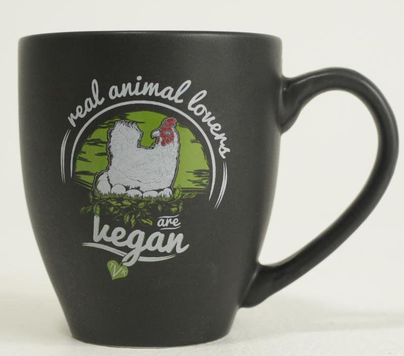 Real Animal Lovers Are Vegan Chicken Mug