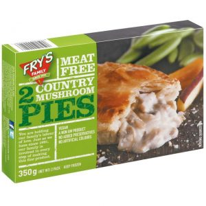 Fry's Country Mushroom Pies Frozen 2 x 175g