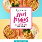 Las Iguanas 2 for 1 Meals