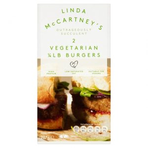 Linda McCartney 2 Vegetarian Quarter Pounders Frozen 227g