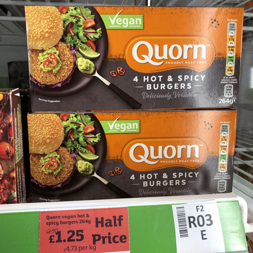 Quorn Hot and Spicy Burgers