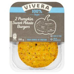 Vivera 2 Pumpkin & Sweet Potato Burgers 200g