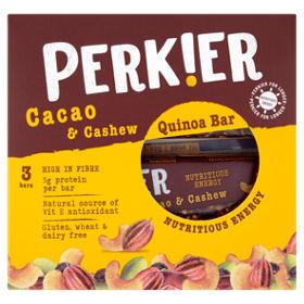 Perkier Cacao & Cashew Quinoa Bar 3 Pack