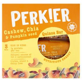 Perkier Cashew Chia & Pumpkin Seed Bar 3 Pack