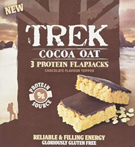 Trek Cocoa Oat Protein Flapjacks Chocolate Flavour Topped