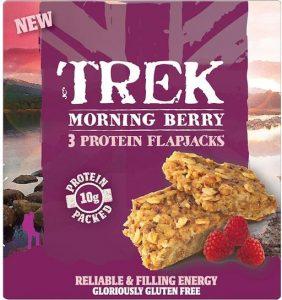 Trek Morning Berry Protein Flapjacks