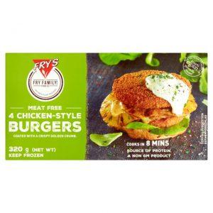 Fry's Chicken-Style Burgers Frozen 320g