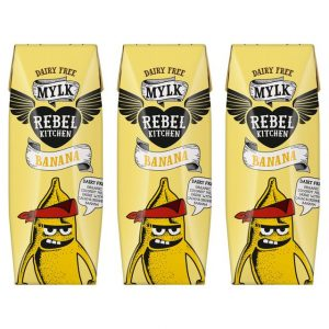 Rebel Kitchen Organic Banana Dairy Free Mylk 3 x 250ml