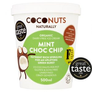Coconuts Naturally Mint Choc Chip Organic Dairy-Free Ice Cream 500ml