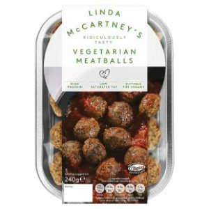 Linda McCartney Chilled Vegetarian Meatballs 240g
