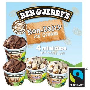 Ben & Jerry's Non Dairy Ice Cream Mini Cups 4 x 100ml