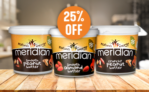 Meridian Nut Butters 25% Off