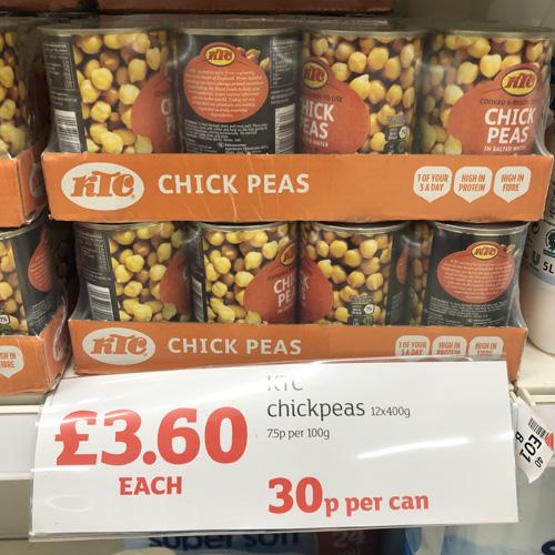 Sainsburys Bulk Chickpeas