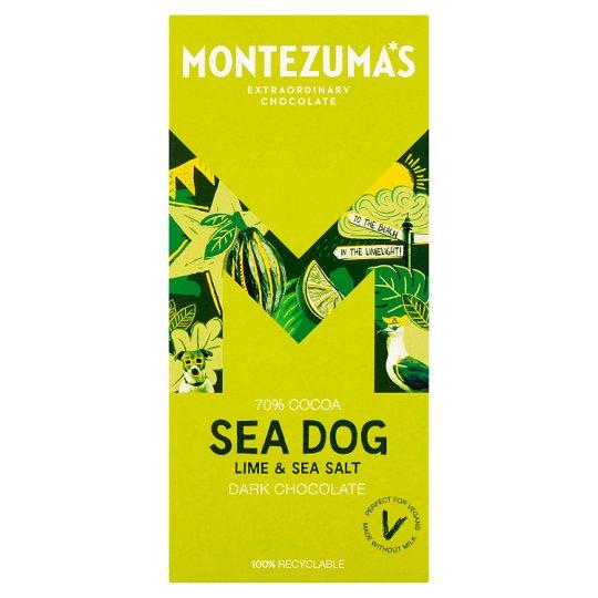 Montezuma's Sea Dog Dark Chocolate Lime & Sea Salt 90g