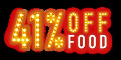 41% off Food at Pizza Hut
