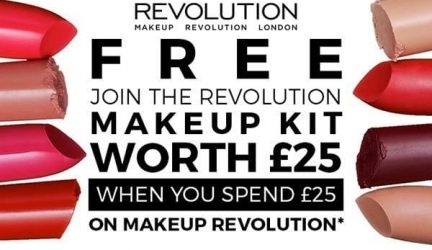 Free mystery bag when you spend £25 on Revolution at Superdrug