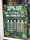 Faith in Nature products 30% off at Oxfam