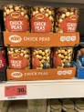 KTC Chick Peas 30p a can