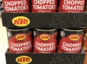 KTC Chopped Tomatoes 30p a can