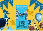 Montezuma's 20% off on £20 spend