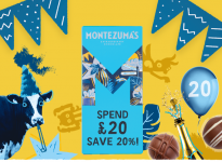 Montezuma's 20% off on £20 spend