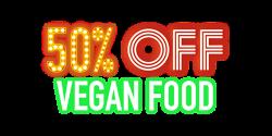 Pizza Hut 50% off New Vegan Menu
