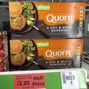 Quorn Hot & Spicy Burgers Half Price