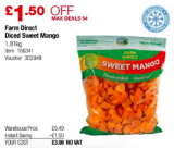 1.8kg Frozen Mango for only £3.99