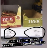 Trek Bars and Chunks 29p and 39p in Home Bargains