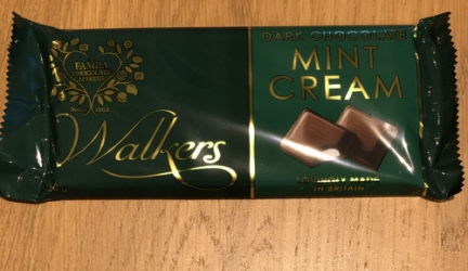 Walkers Mint Cream Dark Chocolate £1